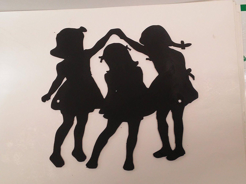 Amazon three girls playing plastic wall decor home decor