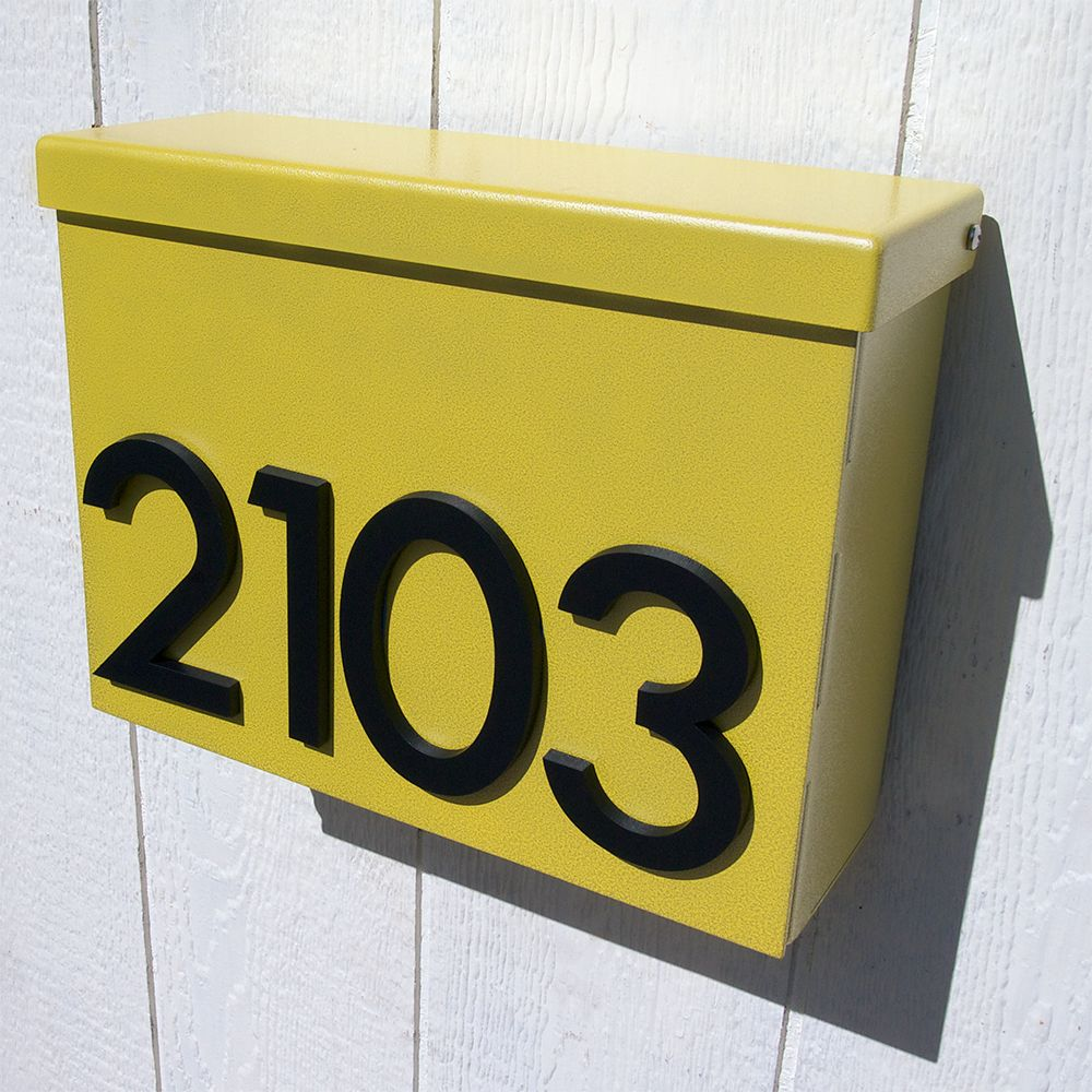Custom Modernist House Number Mailbox No. 1310 in Powder Coated ...