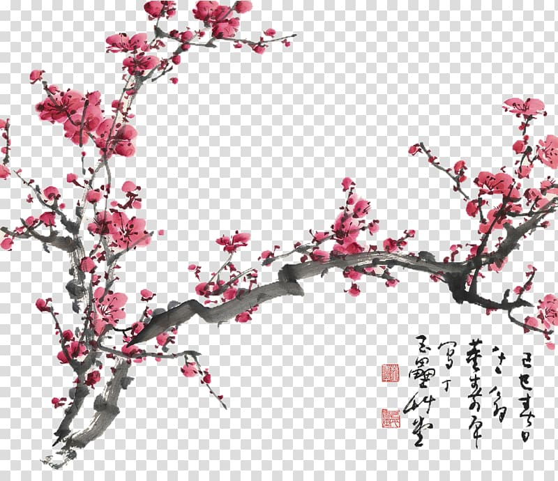 Cherry Blossom Tree Plum Blossom Chinese Painting Cherry Blossom Drawing Cherry Blossom Tra Cherry Blossom Drawing Chinese Cherry Blossom Cherry Blossom Tree