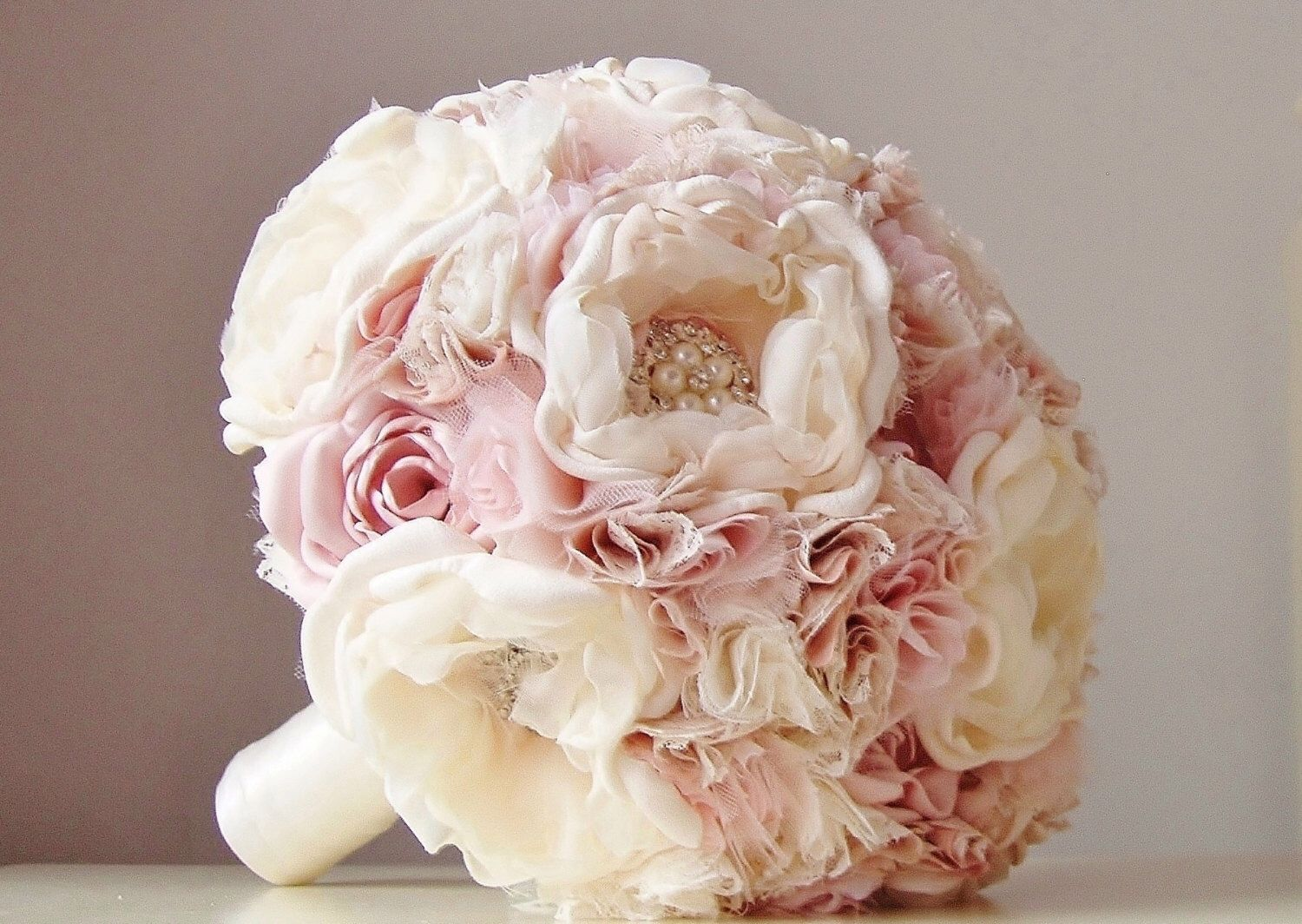 Fabric Wedding Bouquet Weddings Vintage Bridal Bouquet Fabric