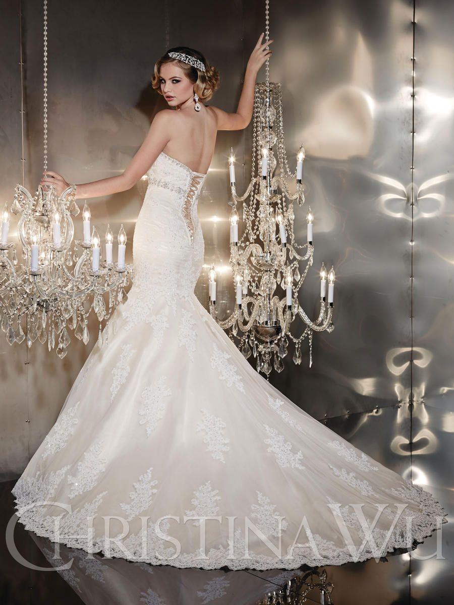Christina wu wedding dresses  Christina Wu Terry Costa Dallas IvoryBlushSilver Wedding Dress