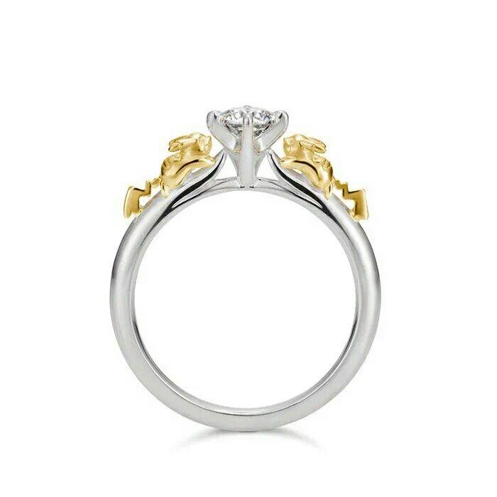 Pikachu Engagement Ring Pokemon Jewelry Pokemon Ring Zircon Ring
