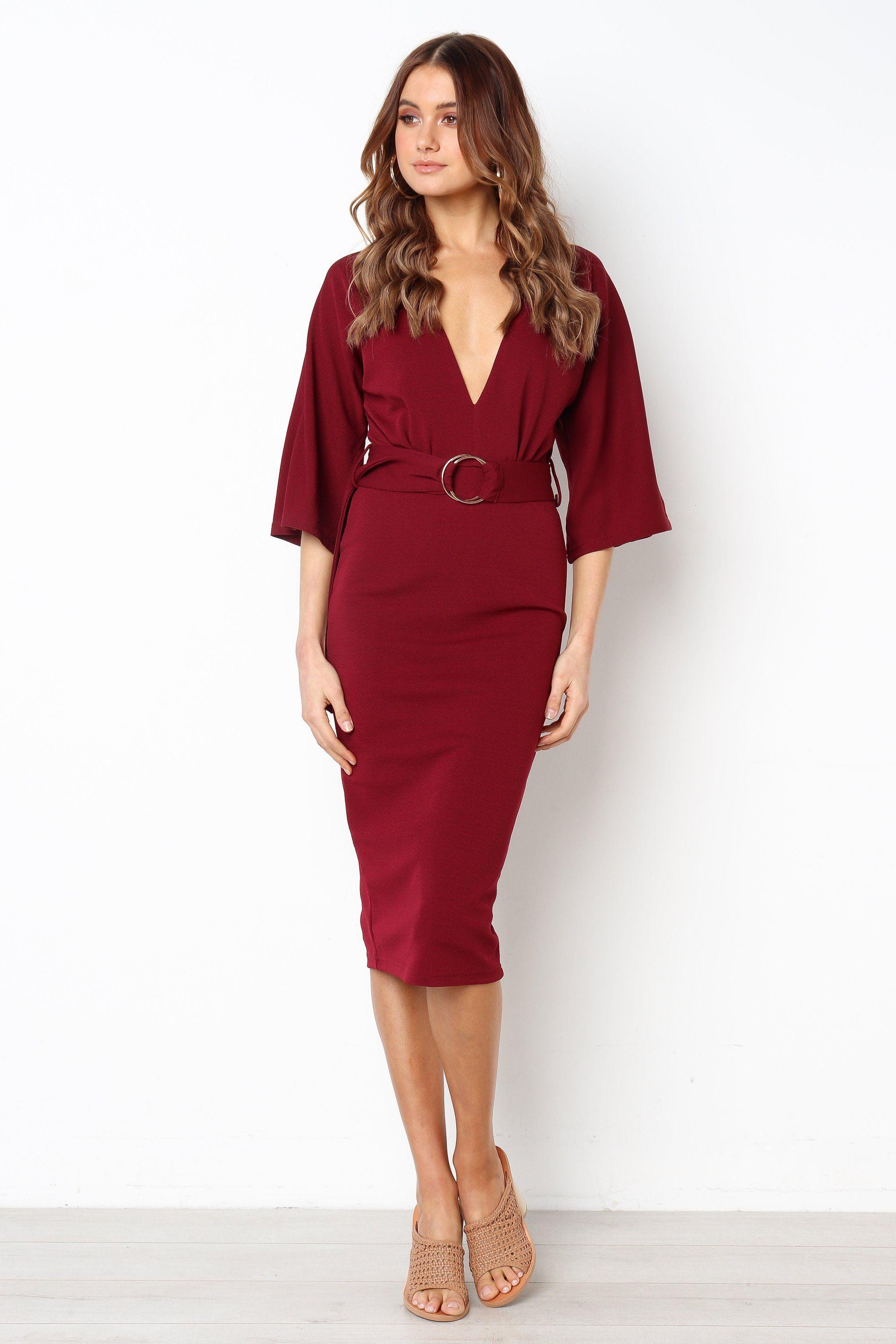 433097310c Sarita Dress - Wine