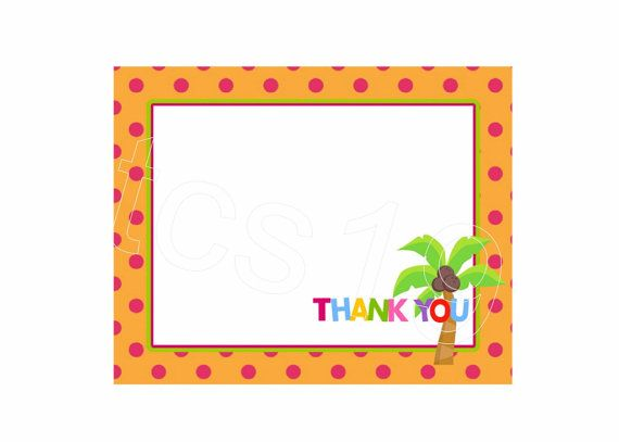 Printable Thank You Note Cards  Colorful Alphabet Party  Instant