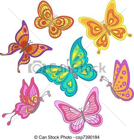 Gallery For Gt Mariposas De Colores Dibujos Cartoon Butterfly Butterfly Drawing Butterflies Vector