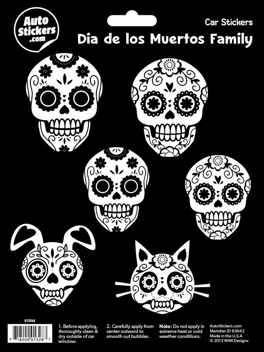 Wmi Designs 10064 Dia De Los Muertos Family Stickers Dia De Los Muertos Muerte Dia De Muertos [ 1200 x 900 Pixel ]