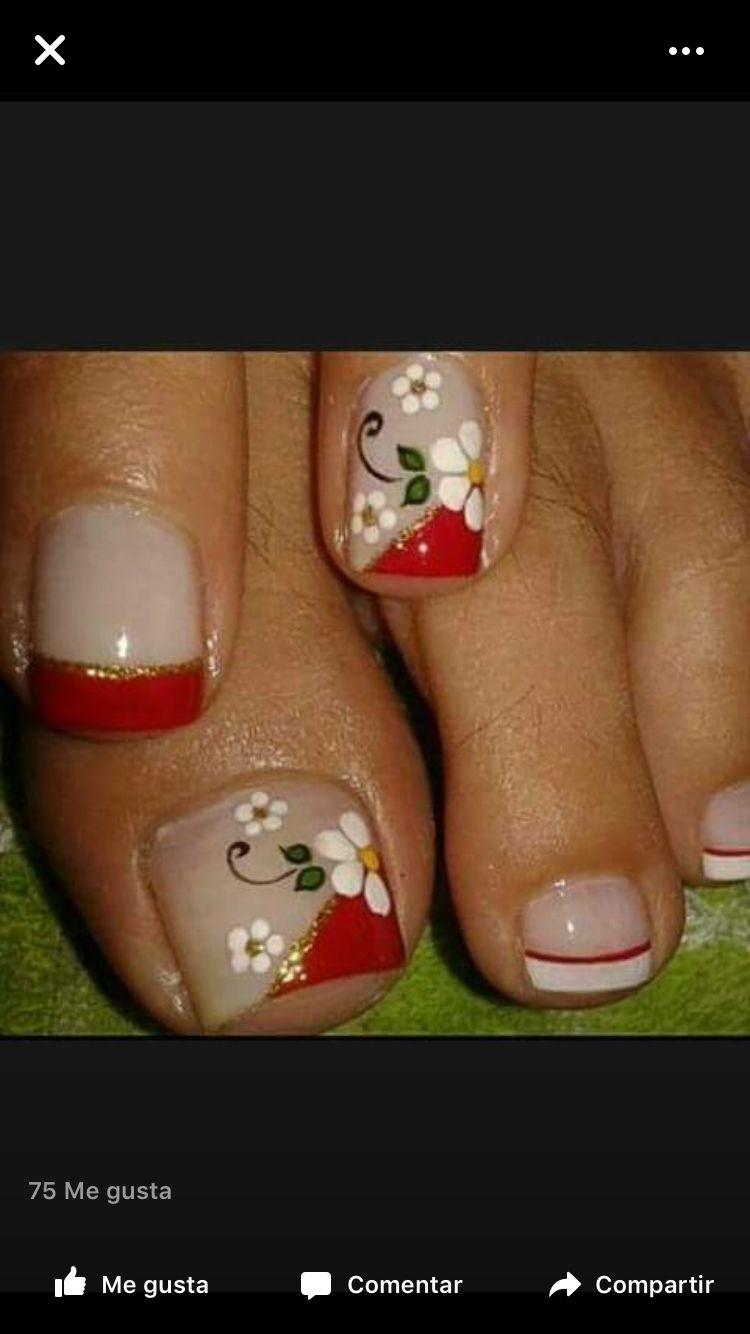 uñas #flores | Uñas. | Pinterest | Uñas flores, Diseños de uñas y ...