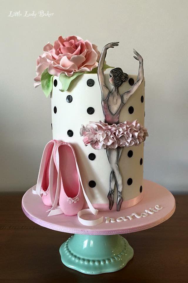 Ballerina ballet cake Pinteres