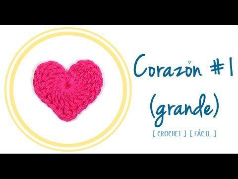 Corazón de Crochet #1 (grande) | PATRONES VALHALLA // Patrones ...