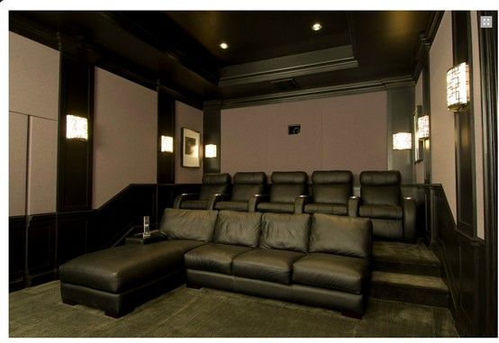 Movie Room Lighting And Seating Theater