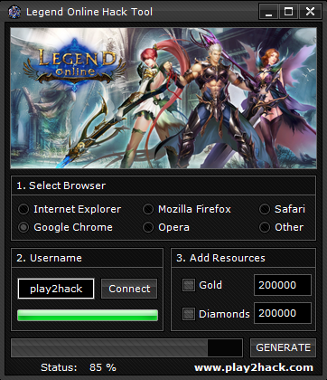 LEGEND ONLINE HACK 2020 Working Working tools for apps and