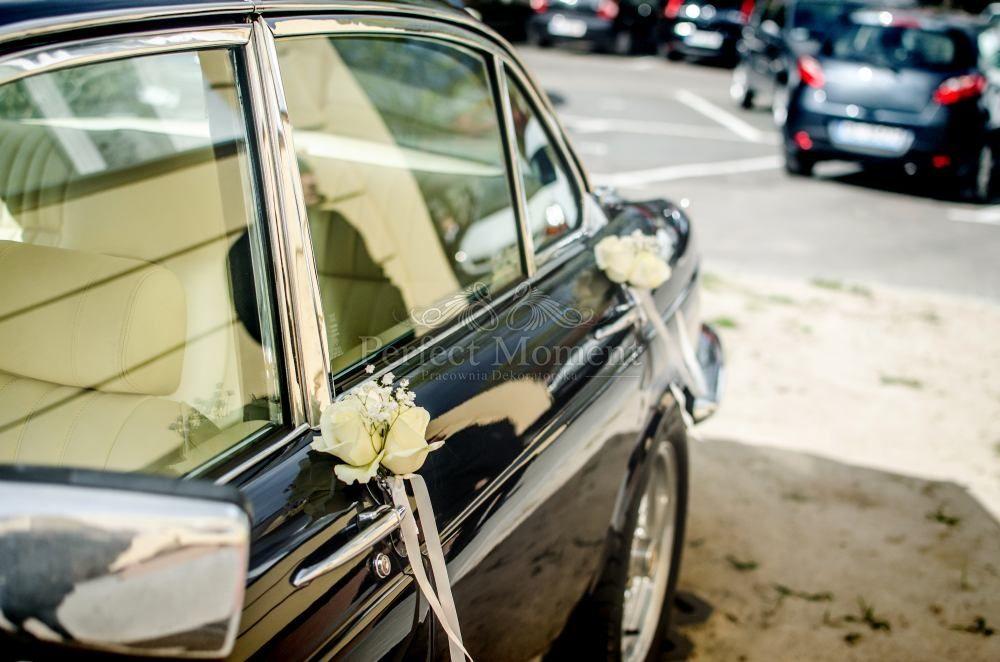 Wspaniały Dekoracja samochodu, ślub, auto, kwiaty białe | Dekoracja DW46