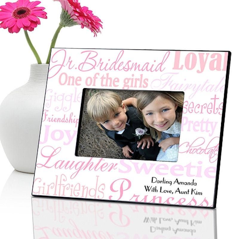 Junior Bridesmaid Wedding in 7 Colors | Personalized Frame 4x6 Photo