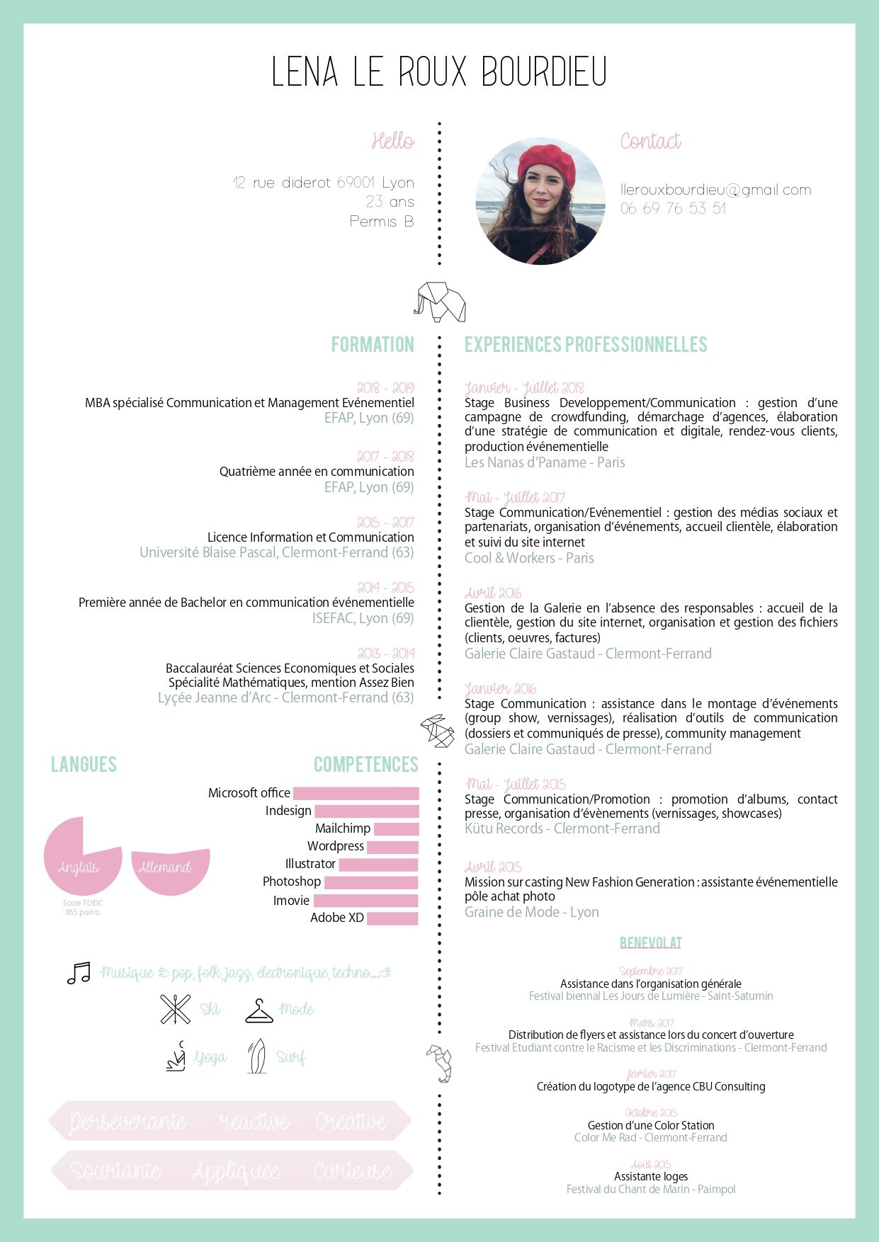 Cv Origami Strategie De Communication Cv Creatif Permis B