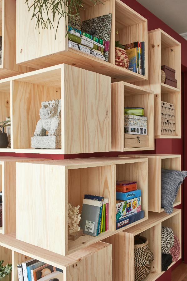 Optimiser L Espace Dans Le Salon Caisson De Rangement Idees