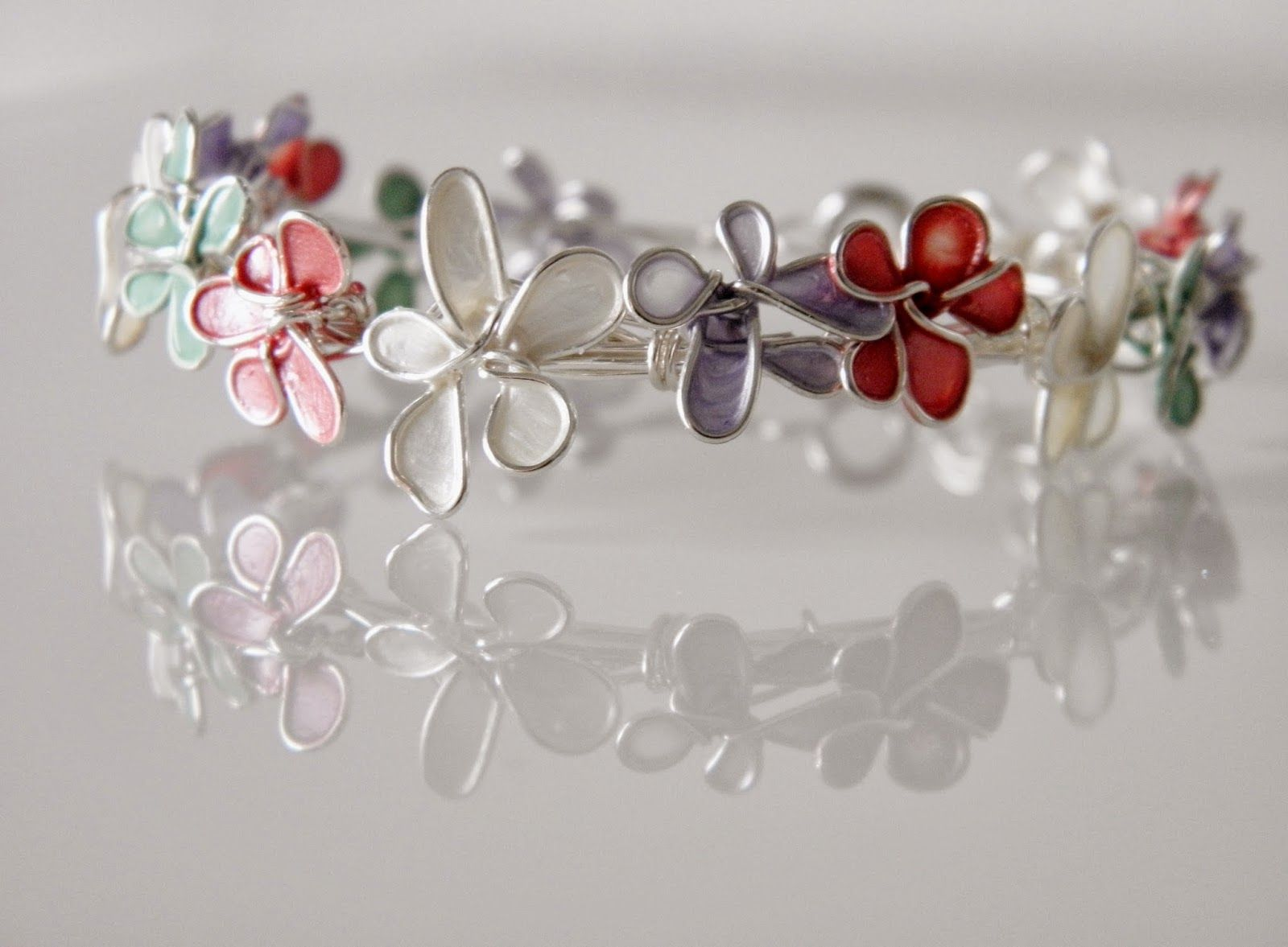 Bracelet With Wire Nail Polish Flowers Wire Center