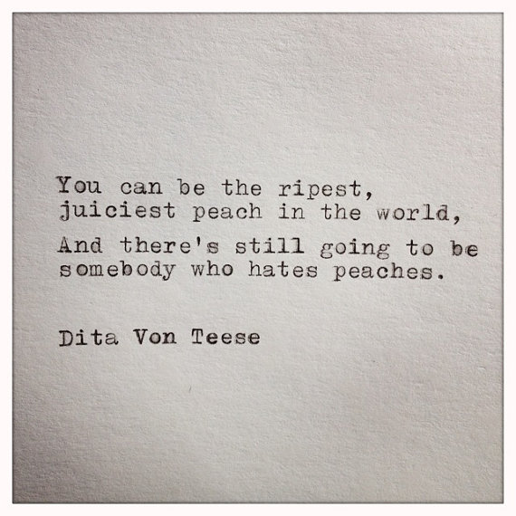 311589409a01 Dita Von Teese Quote Typed on Typewriter by farmnflea on Etsy
