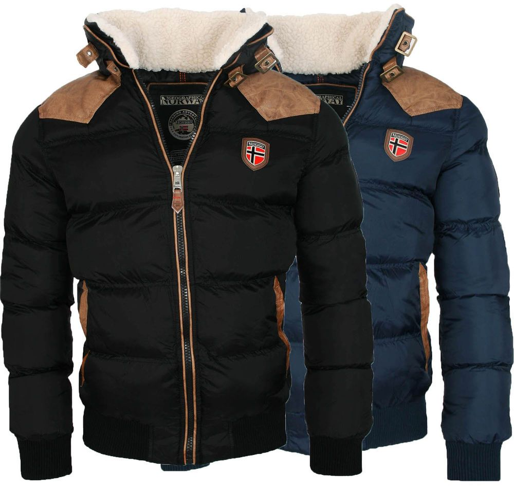 details about geographical norway warme designer herren winter stepp jacke winterjacke neu. Black Bedroom Furniture Sets. Home Design Ideas