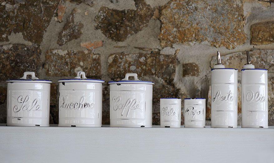 Virginia Casa - Line Vecchio Smalto - Cookware accessories & Food storage, ceramic jars