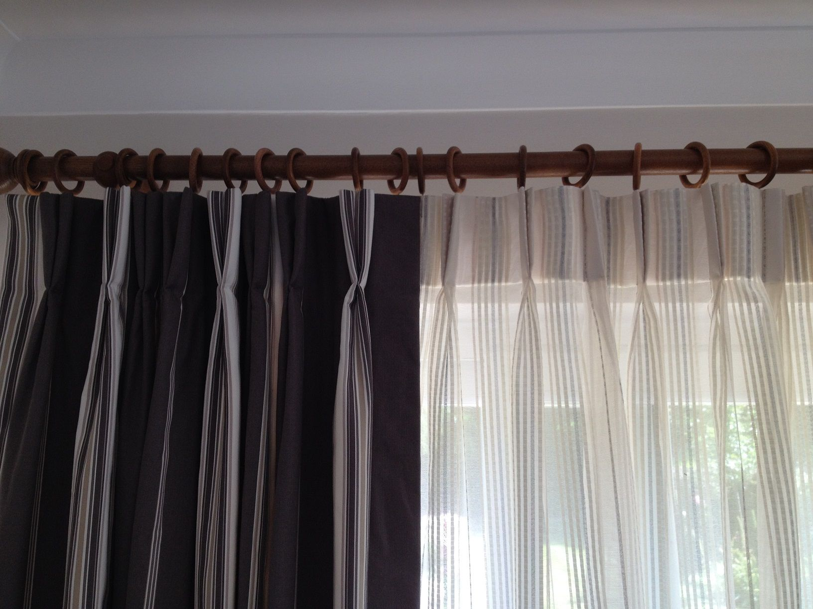 how to make double pleat curtains
