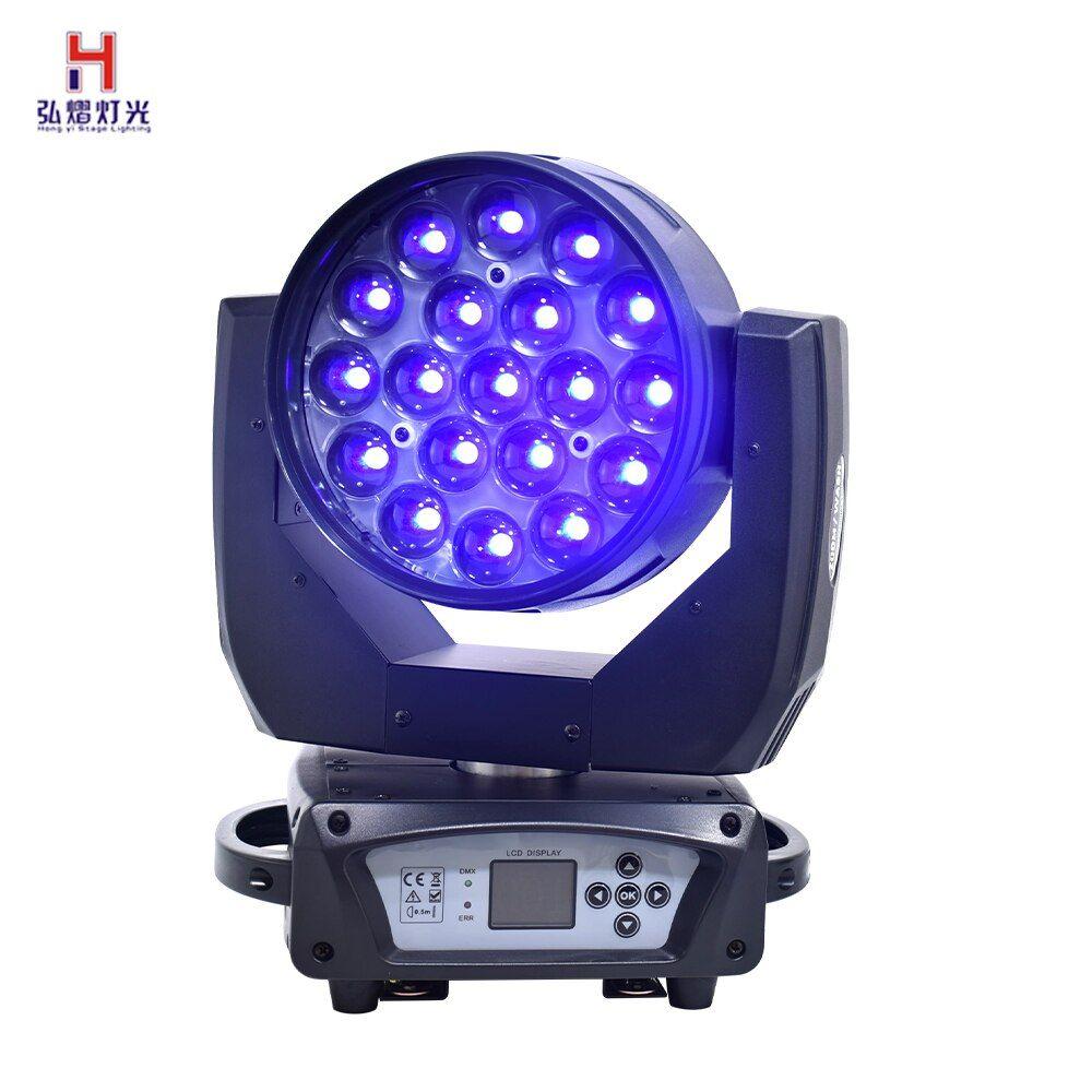 Wash Zoom LED 19x15W RGBW 4IN1 Moving Head Light Strobe