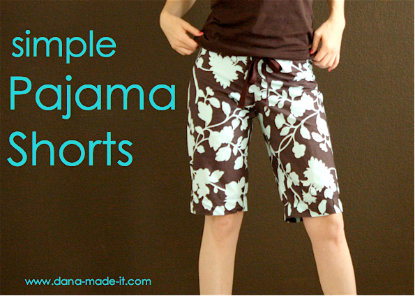 Pajama Pants Are So Comfy So Pajama Shorts Yes Please You L Find The Tutorial Over At Dana Made It Sup Pajama Shorts Womens Pajama Shorts Sewing Tutorials
