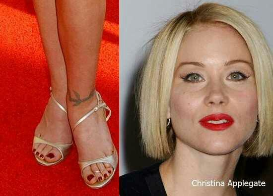 Christina Applegate Wears Nude Patent Sandals With -5442