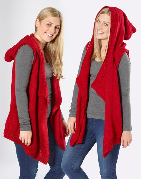Moda Vera Stallion Hooded Vest Free Knitting Pattern Spotlight