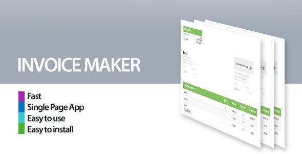 Invoice Maker/Creator   codecanyonnet/item/invoice