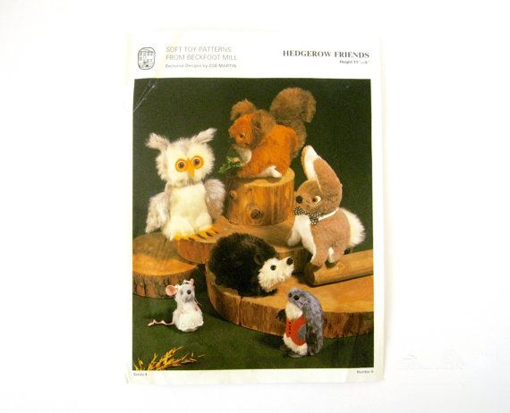 VINTAGE TOY PATTERN - Vintage Beckfoot Mill soft toy animal pattern ...