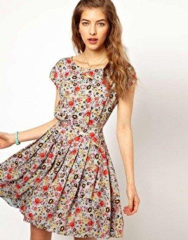 Yazlik Kisa Basma Elbise Modeli Elbise Modelleri Moda Stilleri The Dress