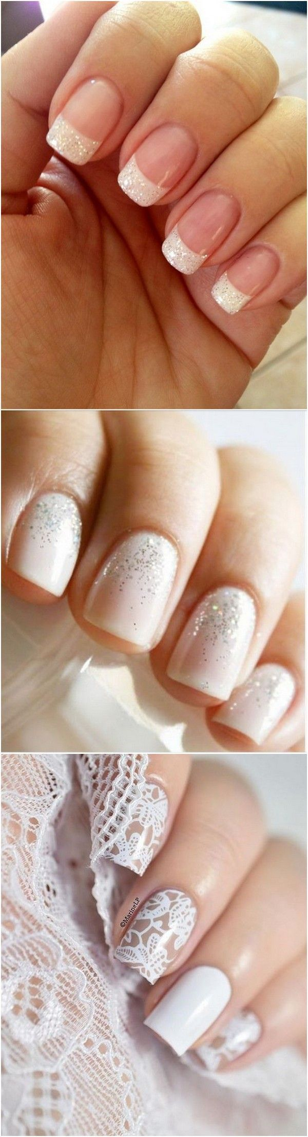 Trending elegant wedding bridal nail ideas weddingnails