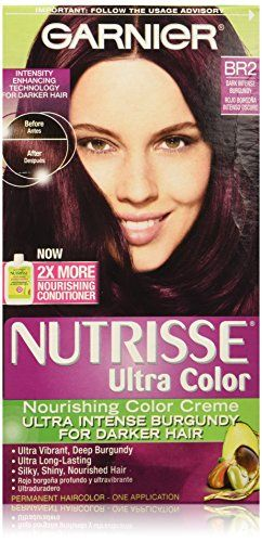 Garnier Nutrisse Ultra Color Nourishing Color Creme, BR2 Dark Intense Burgundy >>> Additional info @