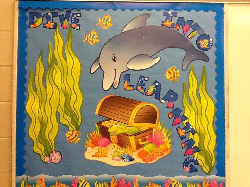 Ocean theme bulletin board decorations from oriental trading company
