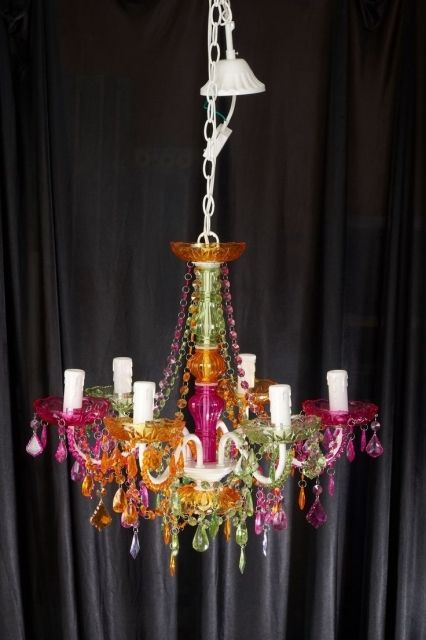 Surprising chandelier multi color 20in what an amazing and surprising chandelier multi color 20in what an amazing and inexpensive multi colored crystal chandelier aloadofball Images