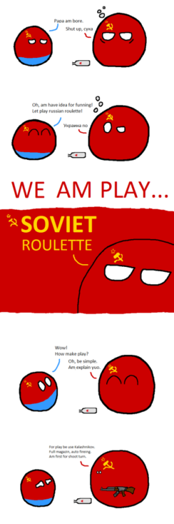 Nice Soviet Roulette via reddit | Country balls | Funny