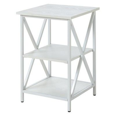 Tucson 3 Tier End Table White Johar Furniture With