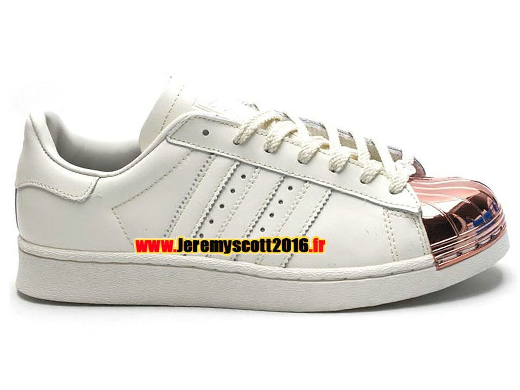 dc78e100cfd1 Adidas Originals Superstar - Chaussure Adidas Sportswear Pas Cher Pour Homme  Femme Beige Argent