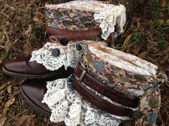 Vintage Boho Gypsy Boots size 7 Cowgirl by ThePaintedPalomino, $165.00