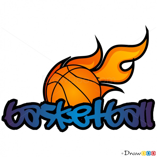 How To Draw Basketball Graffiti Inspiration Basketball Drawings
