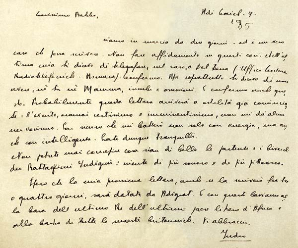 Corriere della Sera - Lettera di Indro Montanelli al padre