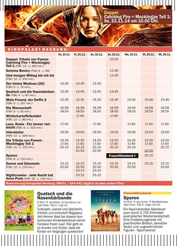 Kinopalast Neuburg Programm Heute