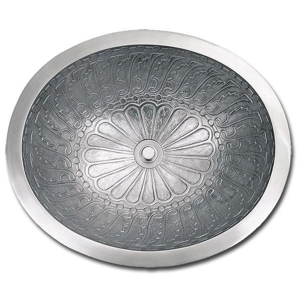 Linkasink B017 Bronze Bathroom Sink Wing Oval Bowl Wave Plumbing