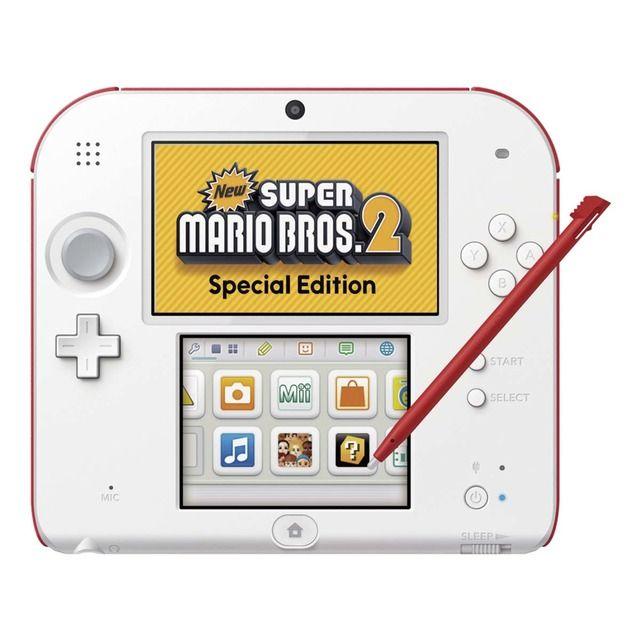 Consola Nintendo 2ds Blanca Roja New Super Mario Bros Special