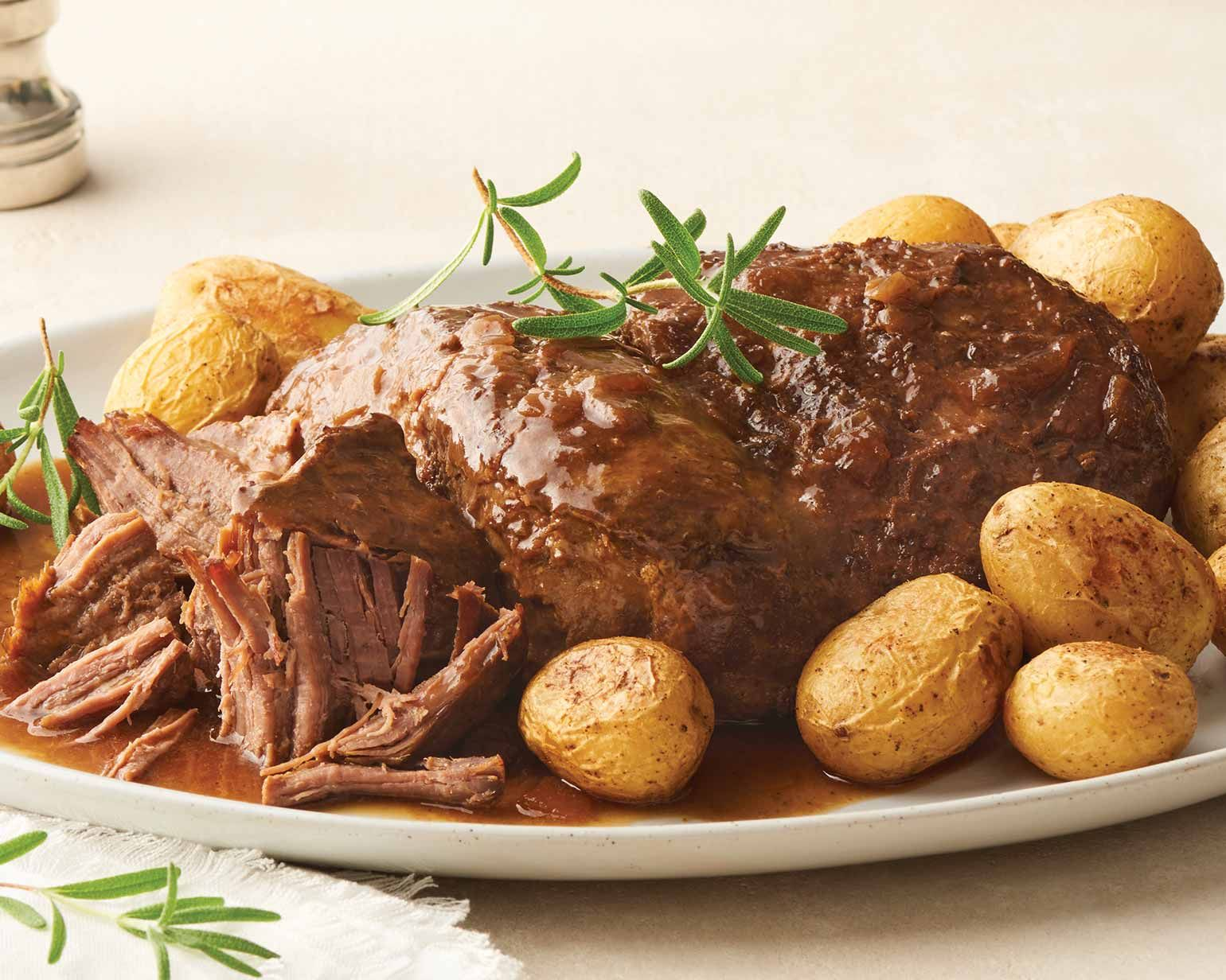 Signature Fully Cooked Beef Pot Roast And Gravy Pot Roast Beef Pot Roast Cooking Roast Beef