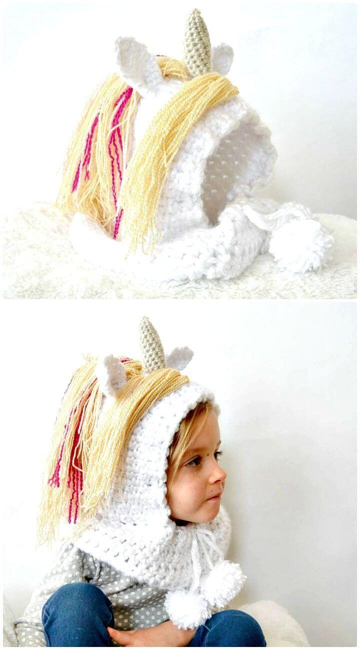 Crochet Unicorn Pattern- 32 Free Crochet Patterns | Gorros, Tejido y ...