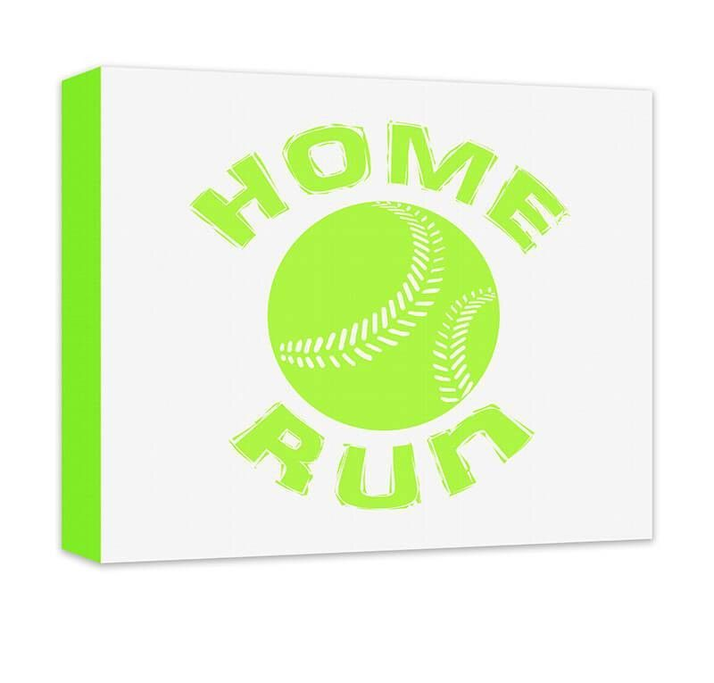 Home Run with Baseball Canvas Wall Art  sc 1 st  Pinterest & Home Run with Baseball Canvas Wall Art | Baseball canvas Canvases ...