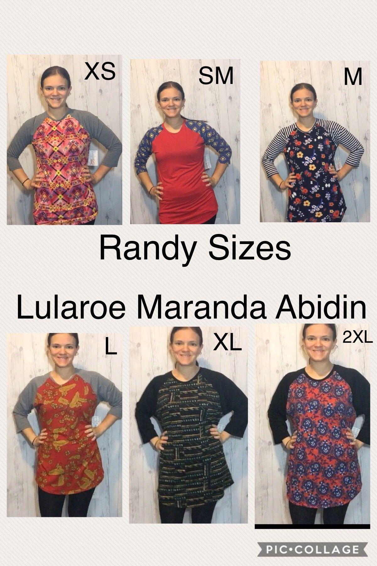 Lularoe Randy Size Chart : lularoe, randy, chart, Randy, Chart, Comparison., Sizes, Xs-2XL, Lularoe, Sizing,, Outfits,, Style