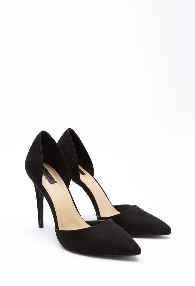 7d5a5ddf06d Pointed Faux Suede Pumps