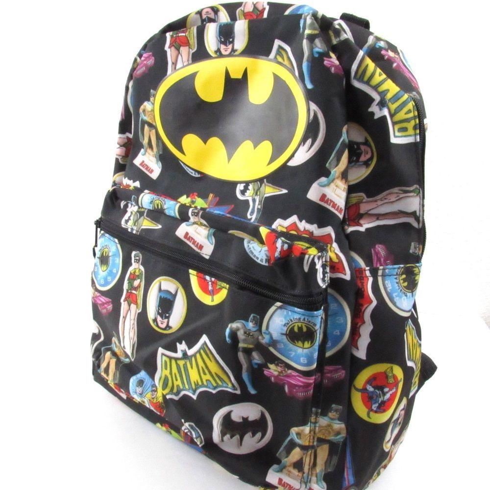 3c4ee6d83fd6 Batman Robin Retro Backpack The Boy Wonder DC Comics Boys Bookbag School Bag   Unbranded  Backpack